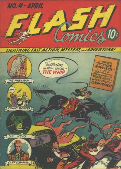 Cover for Flash Comics (DC, 1940 series) #4
