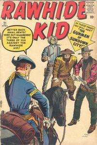 Cover Thumbnail for The Rawhide Kid (Marvel, 1960 series) #21