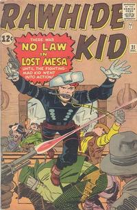 Cover Thumbnail for The Rawhide Kid (Marvel, 1960 series) #31