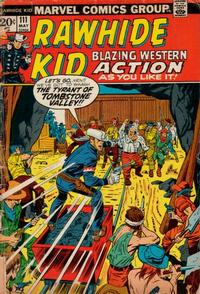 Cover Thumbnail for The Rawhide Kid (Marvel, 1960 series) #111