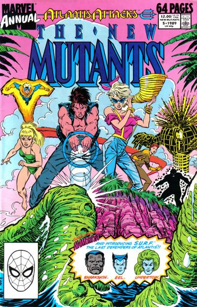 Cover for The New Mutants Annual (Marvel, 1984 series) #5