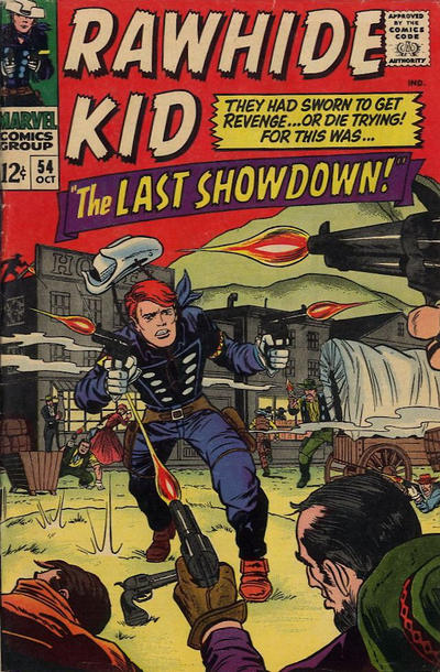 Cover for The Rawhide Kid (Marvel, 1960 series) #54