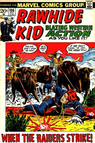 Cover for The Rawhide Kid (Marvel, 1960 series) #106