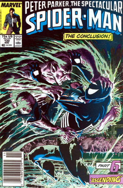 Cover for The Spectacular Spider-Man (1976 series) #132 [Direct]