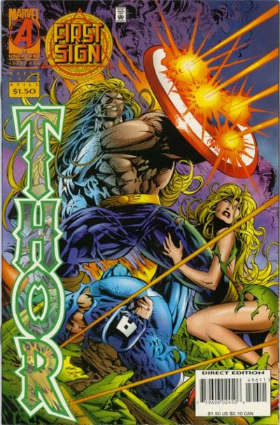 Cover for Thor (Marvel, 1966 series) #496 [Newsstand Edition]