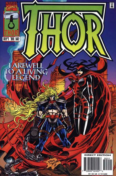 Cover for Thor (Marvel, 1966 series) #502 [Direct Edition]