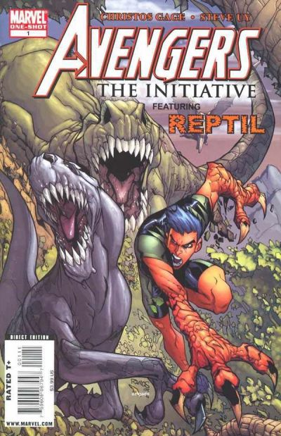 Cover for Avengers: The Initiative Featuring Reptil (Marvel, 2009 series) #1