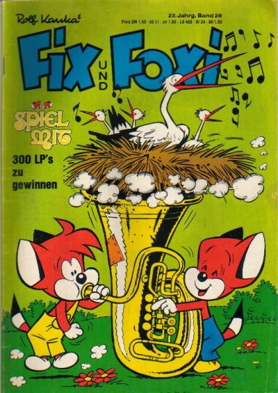 Cover for Fix und Foxi (1953 series) #Vol. 23 #28