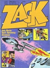 Cover Thumbnail for Zack (Koralle, 1972 series) #51/1972