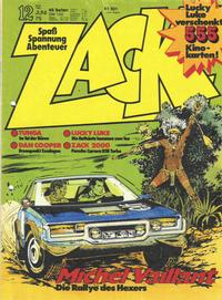 Cover Thumbnail for Zack (Koralle, 1972 series) #12/1975