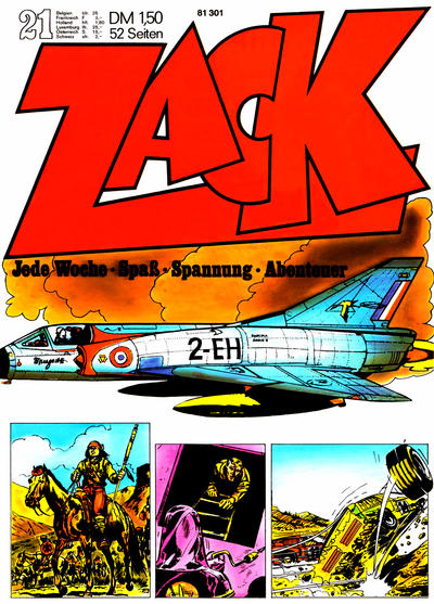 Cover for Zack (Koralle, 1972 series) #21/1972