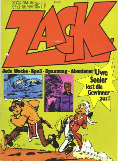 Cover for Zack (1972 series) #27/1972