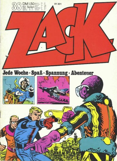 Cover for Zack (1972 series) #38/1972