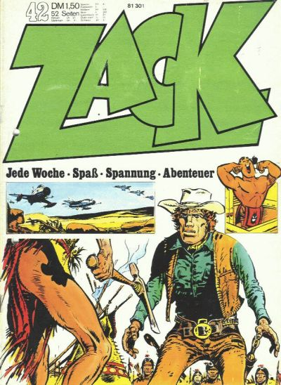 Cover for Zack (Koralle, 1972 series) #42/1972