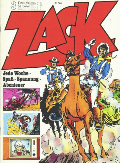 Cover for Zack (Koralle, 1972 series) #3/1973