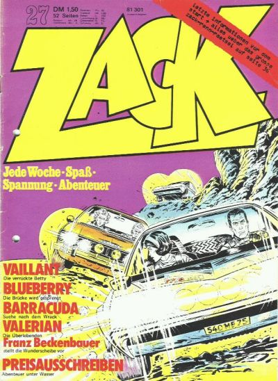 Cover for Zack (Koralle, 1972 series) #27/1973