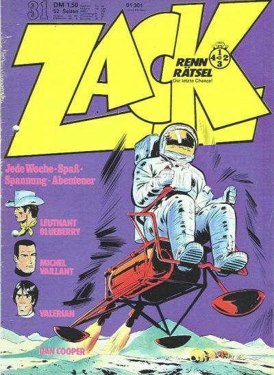Cover for Zack (Koralle, 1972 series) #31/1973