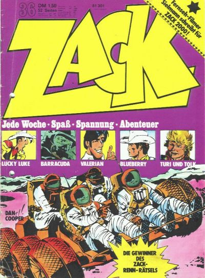 Cover for Zack (Koralle, 1972 series) #36/1973
