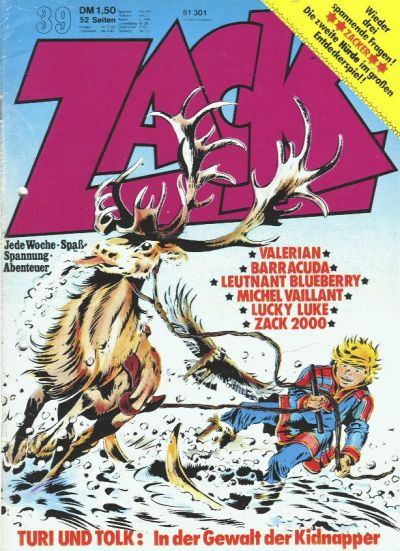 Cover for Zack (1972 series) #39/1973