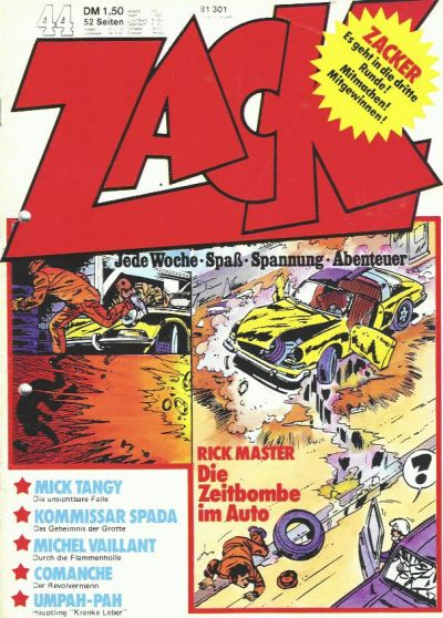 Cover for Zack (1972 series) #44/1973