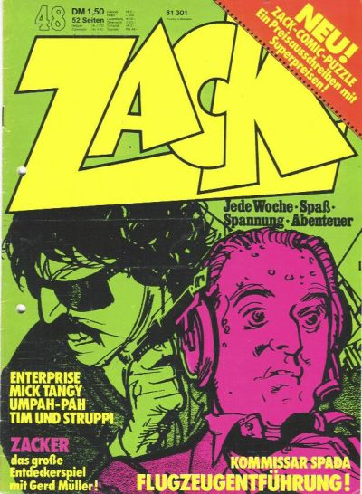 Cover for Zack (Koralle, 1972 series) #48/1973