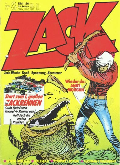 Cover for Zack (Koralle, 1972 series) #8/1974