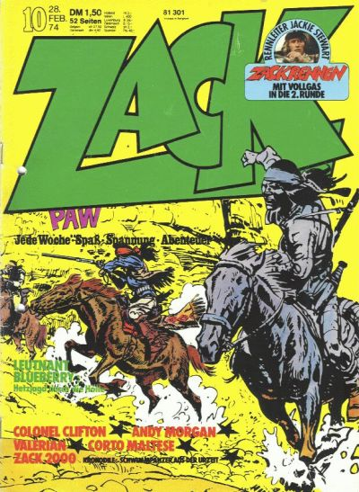 Cover for Zack (1972 series) #10/1974