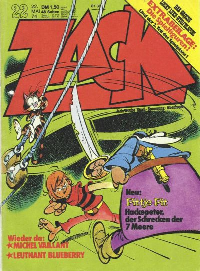 Cover for Zack (Koralle, 1972 series) #22/1974