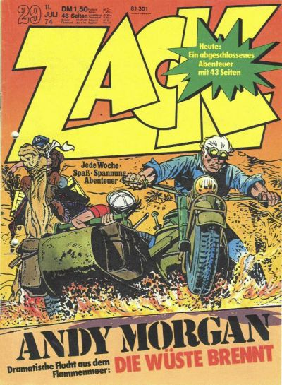 Cover for Zack (Koralle, 1972 series) #29/1974