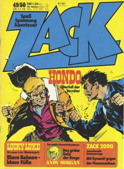 Cover for Zack (Koralle, 1972 series) #49-50/1974