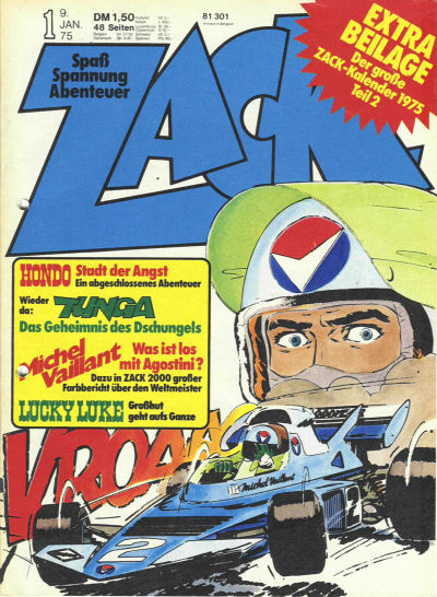 Cover for Zack (1972 series) #1/1975