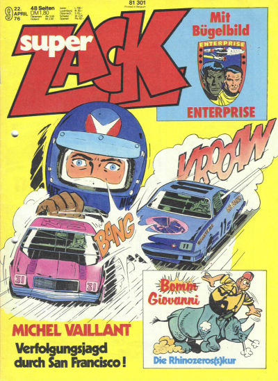 Cover for Zack (Koralle, 1972 series) #9/1976