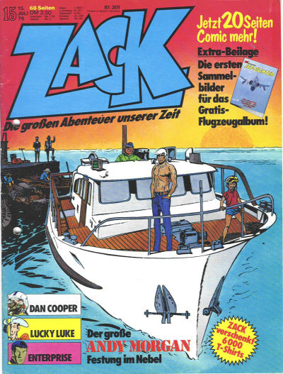 Cover for Zack (Koralle, 1972 series) #15/1976
