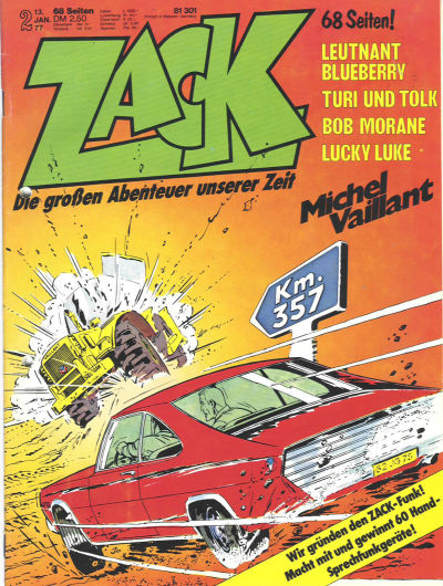 Cover for Zack (Koralle, 1972 series) #2/1977