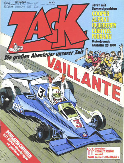 Cover for Zack (1972 series) #12/1978