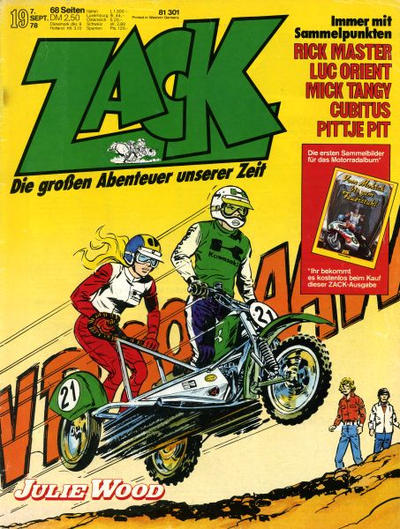Cover for Zack (Koralle, 1972 series) #19/1978