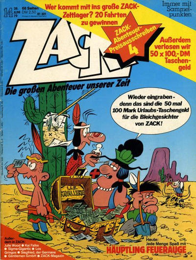 Cover for Zack (Koralle, 1972 series) #14/1979
