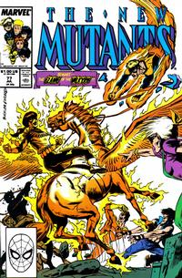 Cover Thumbnail for The New Mutants (Marvel, 1983 series) #77 [Direct Edition]