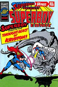 Cover Thumbnail for Superman Presents Superboy Comic (K. G. Murray, 1976 ? series) #103