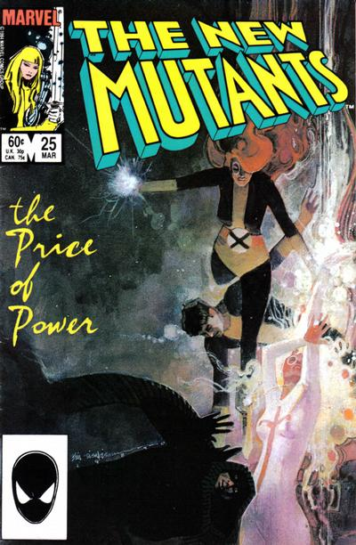 Cover for The New Mutants (Marvel, 1983 series) #25 [Newsstand Edition]
