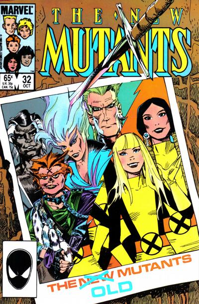 Cover for The New Mutants (Marvel, 1983 series) #32