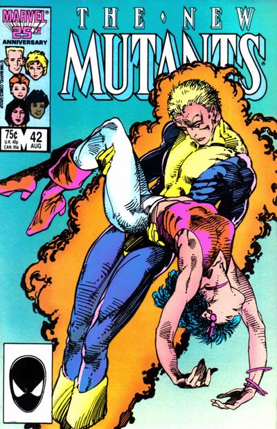 Cover for The New Mutants (1983 series) #42 [newsstand]