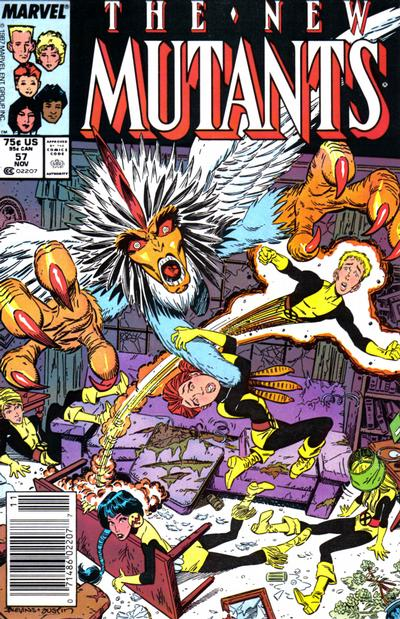 Cover for The New Mutants (Marvel, 1983 series) #57