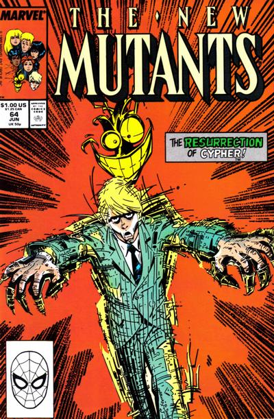 Cover for The New Mutants (Marvel, 1983 series) #64 [Newsstand Edition]