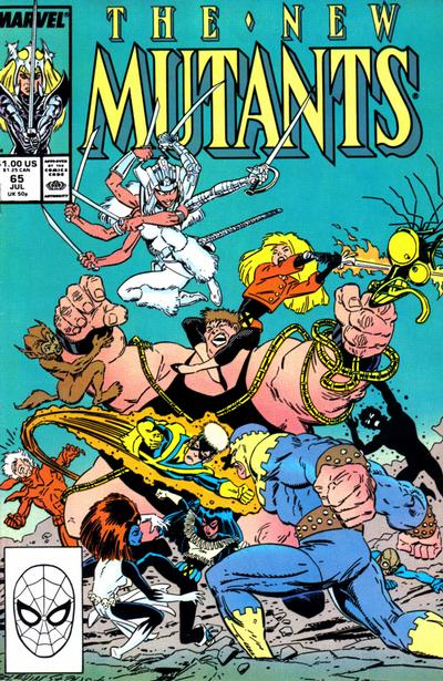 Cover for The New Mutants (Marvel, 1983 series) #65 [Newsstand Edition]