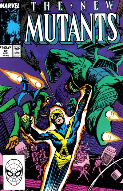 Cover for The New Mutants (Marvel, 1983 series) #67 [Direct Edition]