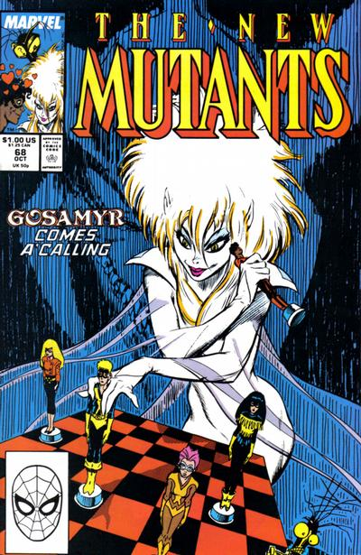 Cover for The New Mutants (1983 series) #68 [Newsstand Edition]