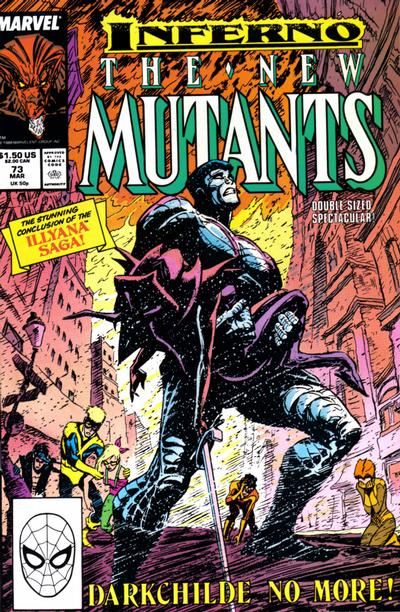 Cover for The New Mutants (Marvel, 1983 series) #73 [Direct Edition]