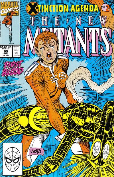 Cover for The New Mutants (Marvel, 1983 series) #95