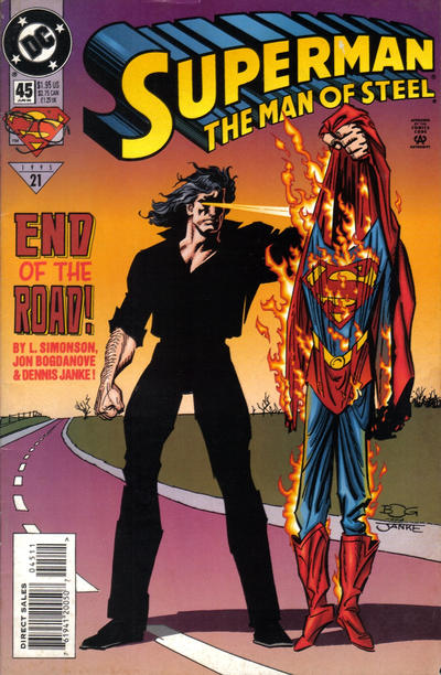Cover for Superman: The Man of Steel (DC, 1991 series) #45